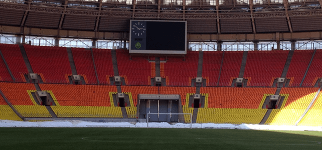 Palco da Copa 2018, a Rússia foi pioneira na Grama Sintética para Futebol