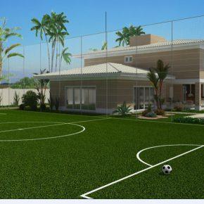 Preciso de autorização de algum órgão para ter um campo de futebol em minha casa?