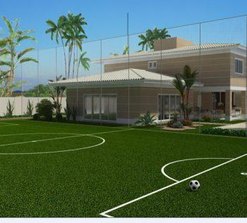 campo de futebol society em casa